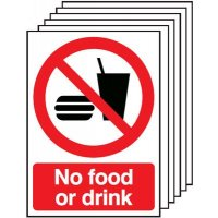 Six Pack No Food And Drink Warning Signs