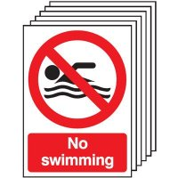 Six Pack No Swimming Allowed Signs