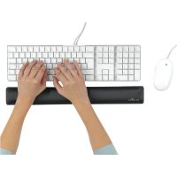 Fabric-coated ergonomic keyboard wrist support