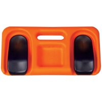 Ergonomic foam kneeling pad with gel inserts
