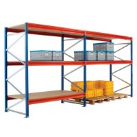 Durable Orange Shelf Levels for Longspan Shelving System