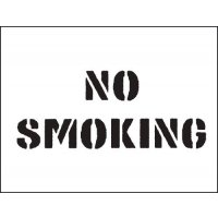 Durable Reusable PVC 'No Smoking' Stencil