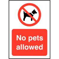 Highly Visible No Pets Allowed Signs
