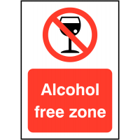 Alcohol Prohibited Zone Sign