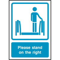 Please Stand On The Right Signs