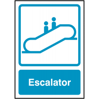 Clear and informative escalator signs