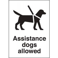 Plastic 'Assistance Dogs Allowed' Signs