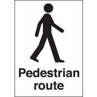 Easy visibility pedestrian route signs