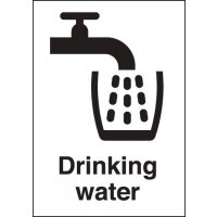 Convenient, clear information signs for drinking water