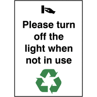 Energy-saving 'Please Turn Off the Lights When Not in Use' Sign