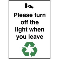 Eco-friendly 'Please Turn Off The Light' Sign
