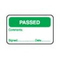 Passed - Signed/Date/Comments Quality Assurance Labels