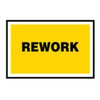 Quality Assurance Procedure Signs – Rework