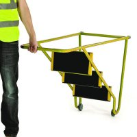 Light-Duty, Tubular Steel, Tilt & Pull Steps
