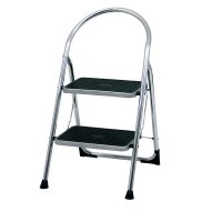 Chrome-Plated Folding Step Stool