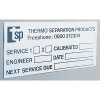 Durable aluminium write-on label printed with your design