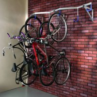Wall-Mounted Space-Saving Cycle Rack