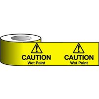 Highly Visible Wet Paint Warning Tape