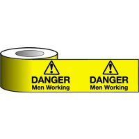 'Danger - Men Working' Warning Tapes