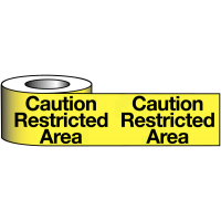 Caution Restricted Area Polyethylene Warning Tapes
