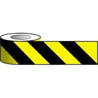 Red and White Chevron Hazard Barrier Tape