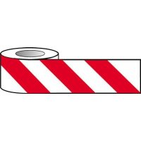 Red and White Chevron Hazard Barrier Tape