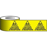 Explosive Atmosphere Highly Visible Warning Tape