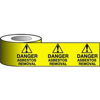 Highly Visible Asbestos Removal Warning Tape
