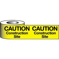 Highly-Visible Polyethylene Construction Site Warning Tape