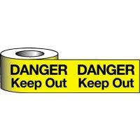 'Danger Keep Out' Polyethylene Warning Tape
