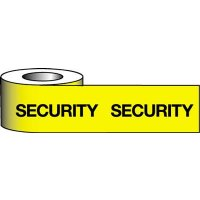 Highly visible security barrier tape