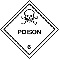 Easy to peel poison hazard warning diamond labels
