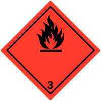 Hazard Warning Diamonds On-a-Roll - Flammable Symbol