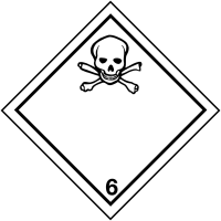 Self-adhesive poison hazard warning diamond labels