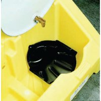 Durable polyethylene well liner for Enpac poly-dolly
