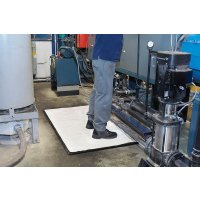 Innovative combination mat kit for battling spills and fatigue