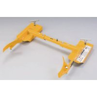 Forklift clamps for plastic or steel drums