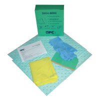 Compact Disposable Spill-Absorbing Kit