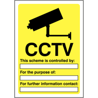 Customisable CCTV Sign for Compliance and Security