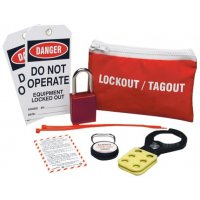 Complete Lockout Kit in Eye-Catching Red Pouch