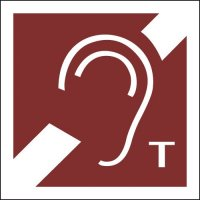 Hearing Aid Loop Symbol Sign: Tactile Braille Format