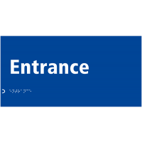 Moulded Plastic Tactile and Braille 'Entrance Sign'