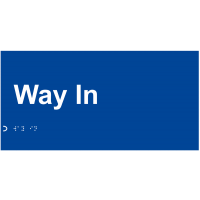 Tactile and Braille Sign for Way In