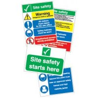 Easy to understand site safety pack of signs