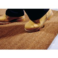 Hard-wearing coir mats for building entrance points