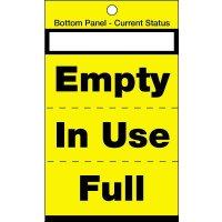 Blank 3-option cylinder status tags