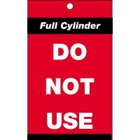 Full cylinder do not use' cylinder status tag