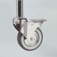 Castors for smooth movement of chrome wire shelving