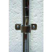 Chrome wire shelving wall brackets