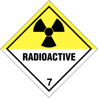 Hazard Warning Diamonds – 'Radioactive' and '7'